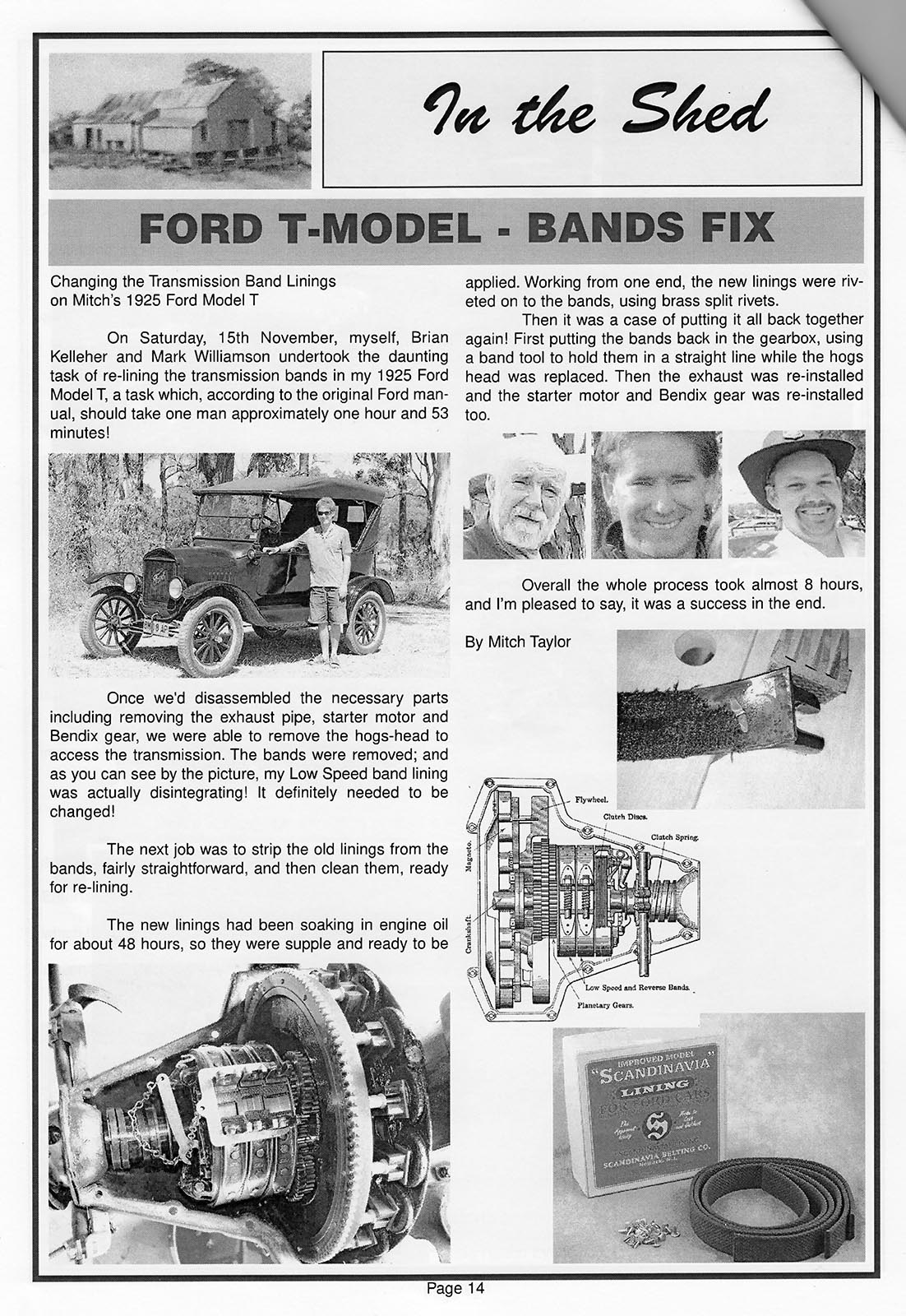 Taree Historic Motor Club magazine, Band Linings story