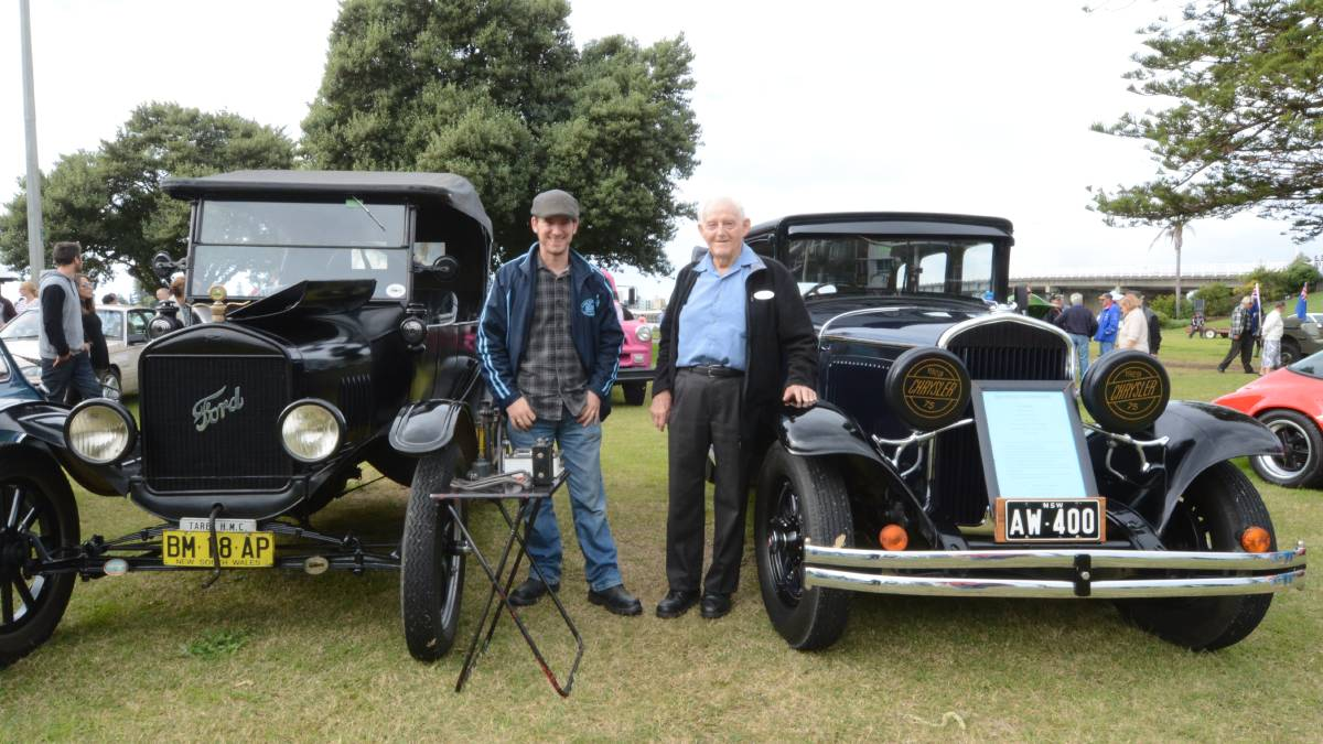 My 1925 Ford Model T with Allan Walters' 1929 Chrysler 75