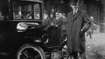 Henry Ford with the Model T