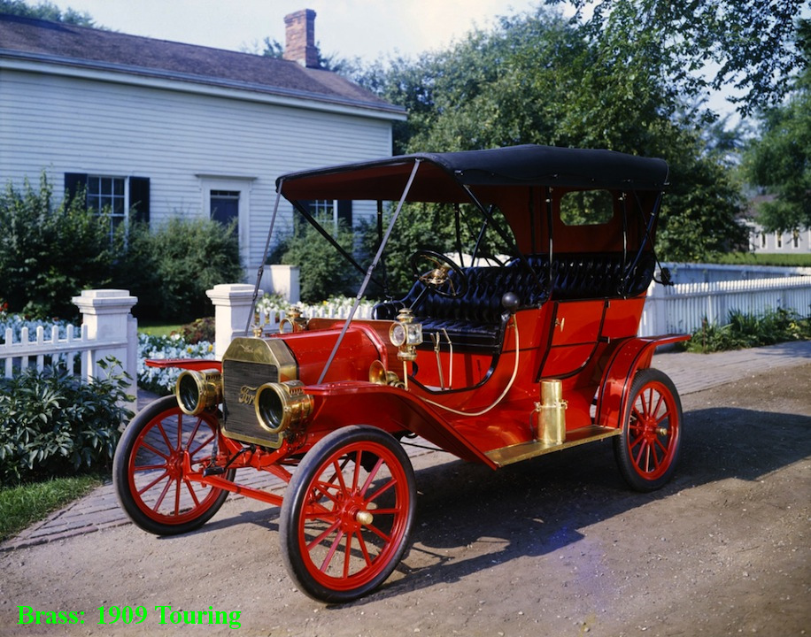 09c76d5b69f Most if not all of the brass Fords made between 1908 and 1911 had wooden  bodies. A changeover was made to sheet metal-covered wooden frames midway  through ...