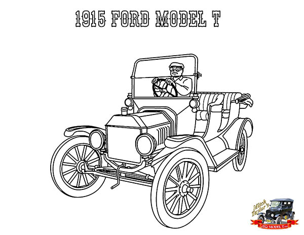 Coloring Pages Model T Ford : 1915 ford model t. click to see printable version of 2006 gt