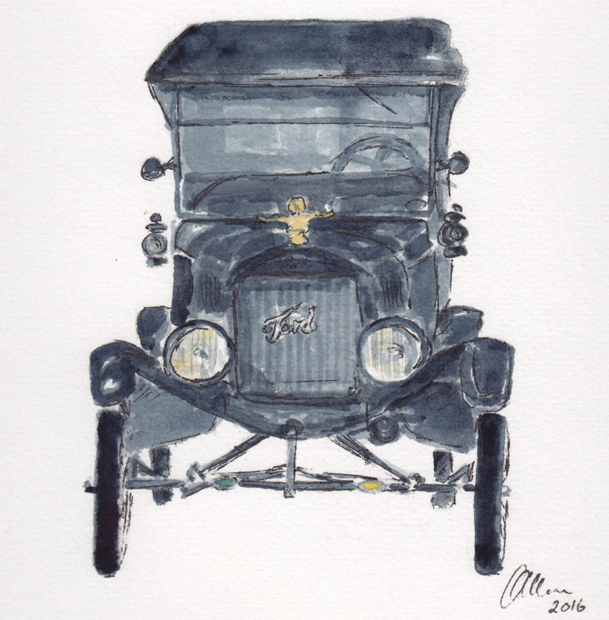 Water Colour Painting Of My Model T